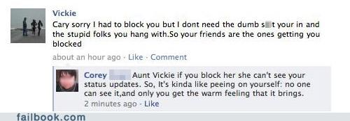 blocked,family,witty reply