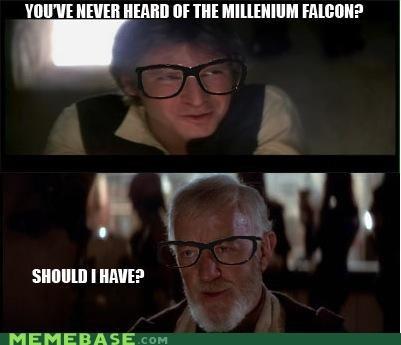 Han Solo,hipster-disney-friends,Millenium Falcon,obi-wan kenobi,star wars