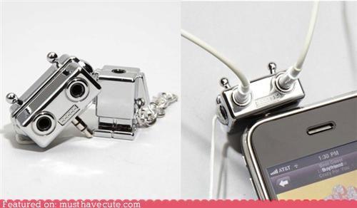 eyes,headphone splitter,ipod,jacks,robot,share