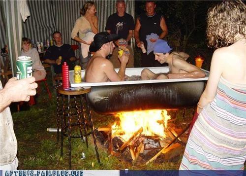 bad idea,drunk,hot tub,Party