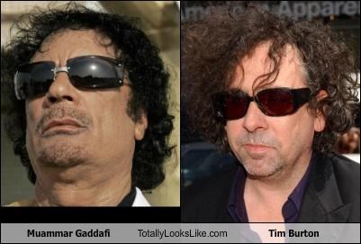 Muammar Gaddafi Totally Looks Like Tim Burton