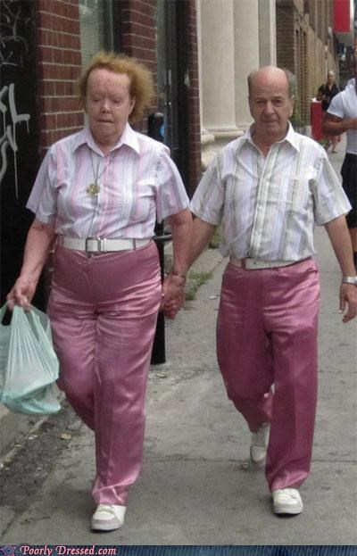 couple,matching,outfits,pink,scary,weird