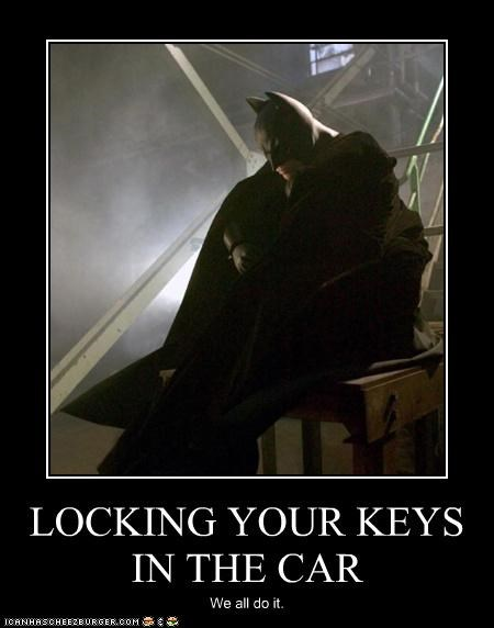 LOCKING YOUR KEYS IN THE CAR