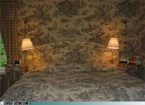 bedroom,invisible,pattern,toile,wallpaper