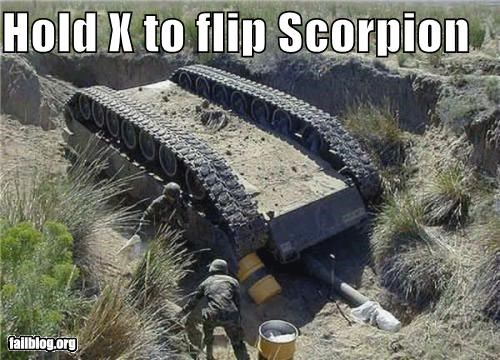 Hold X to flip Scorpion