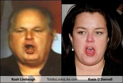 Rush Limbaugh Totally Looks Like Rosie O'Donnell
