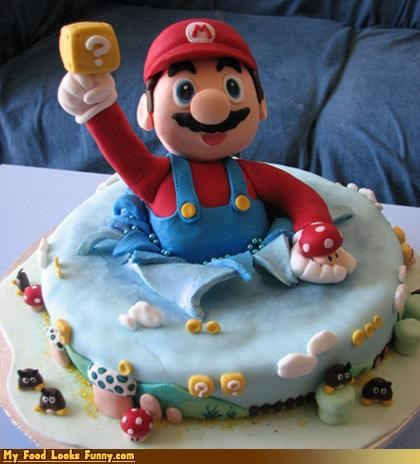 block,cake,fondant,mario,nintendo,question mark,super mario,super mario brothers,video game