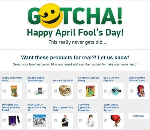 ThinkGeek April Foold Prank Round-Up of the Day