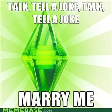flirt,marry me,Sims,The Sims,video game