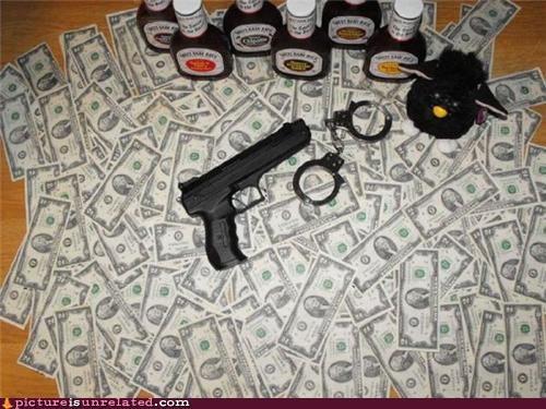 bbq sauce,gangsta,guns,money