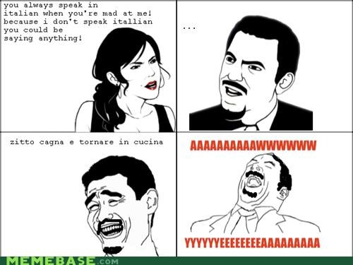 argument,italian,kitchen,Rage Comics