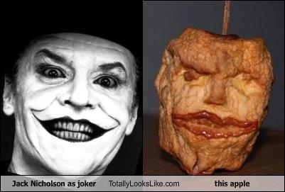 actors,apple,batman,food,jack nicholson,the joker
