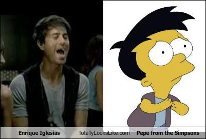 "Enrique Iglesias Totally Looks Like Pepe from ""The Simpsons"""