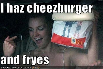 I haz cheezburger   and fryes