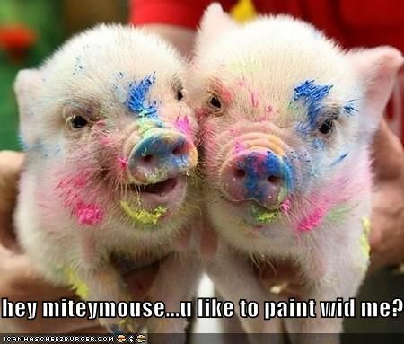 hey miteymouse...u like to paint wid me?