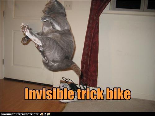 Invisible trick bike