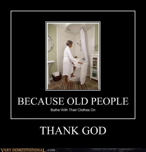 clothes,old people,shower