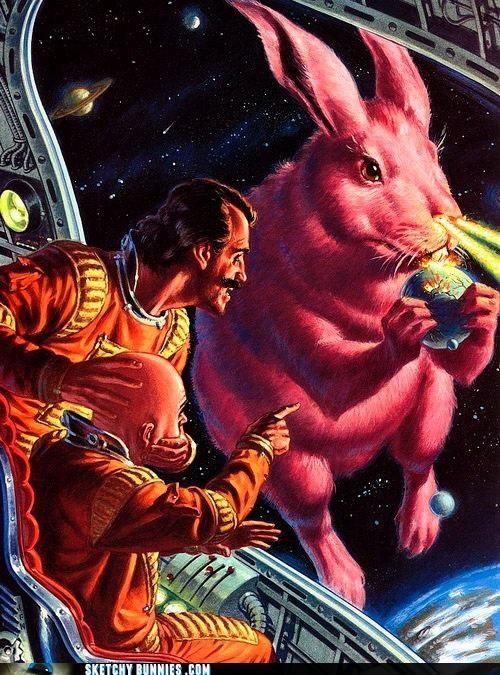 Laser Easter Bunny