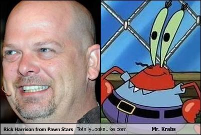 Rick Harrison from Pawn Stars Totally Looks Like Mr. Krabs