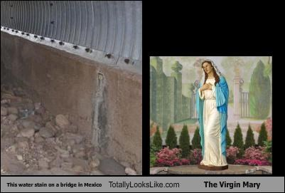 This Water Stain on a Bridge in Mexico Totally Looks Like The Virgin Mary
