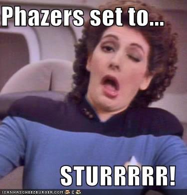 Movies and Telederp,phazers,Star Trek,wink wink nudge nudge
