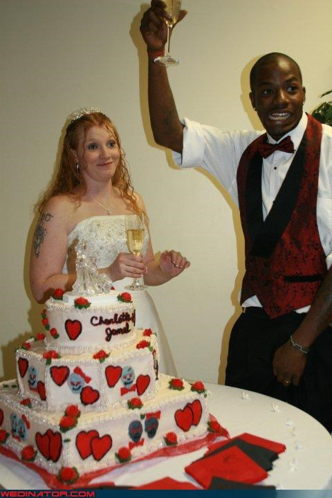 funny wedding photos,tattoot,toast,wedding cake