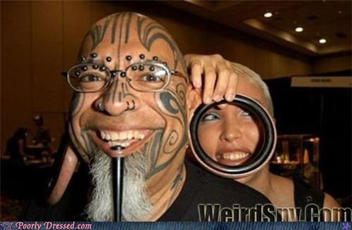 ears,gauges,piercing,plugs,scary,tattoo