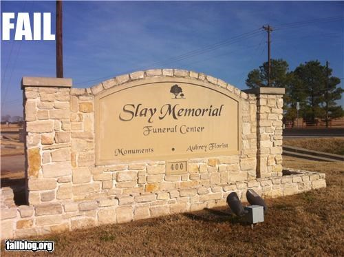 Funeral Home Name Fail