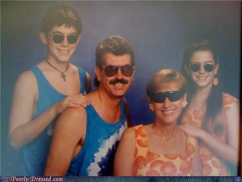 awesome,family photo,mustache,shades,sunglasses