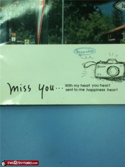 camera,heart,miss