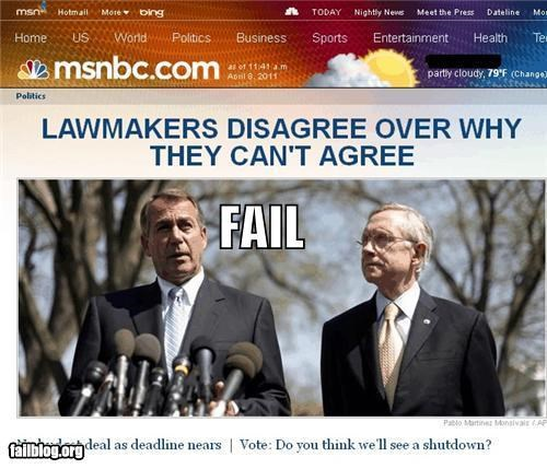 Probably Bad News: Congressional FAIL