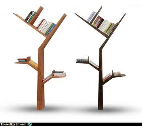 Not-A-Kludge: Tree Branch Bookshelf