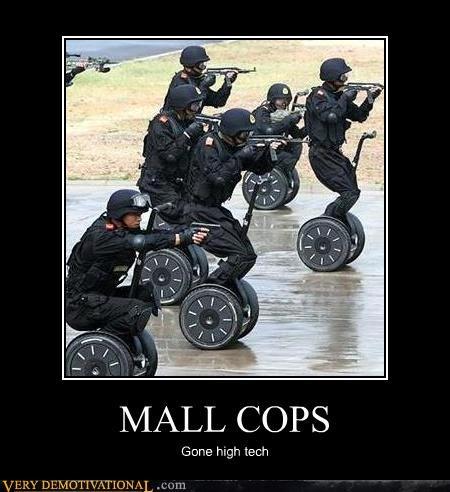 cops,high teck,mall,segways