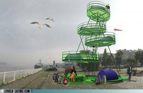 camping,photoshop,platforms,tower