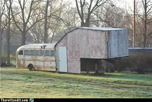 bus,dual use,home improvement,house,redneck,school bus