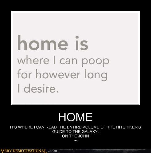 bathroom,Hitchhikers Guide To the Galaxy,home,poop