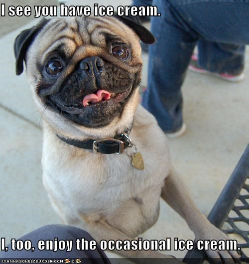 I see you have ice cream.