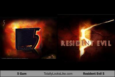 5 gum,gum,logos,resident evil,Resident Evil 5,video games