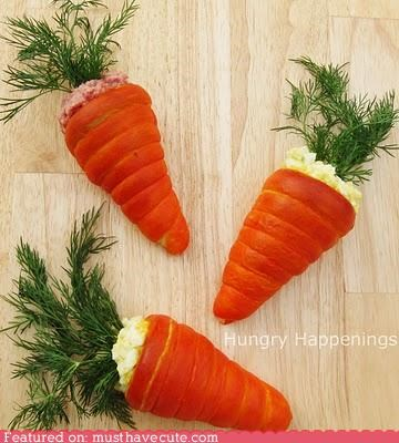Epicute: Egg Salad Carrot Rolls