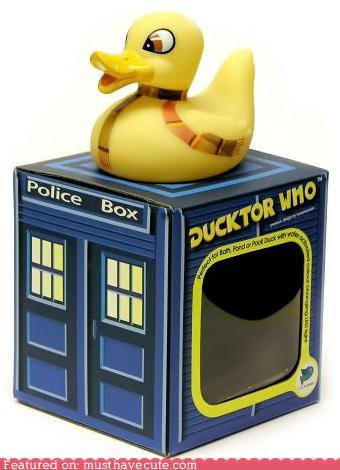 doctor who,rubber duckie,scarf,tardis