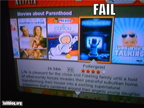 failboat,g rated,movies,netflix,parenting,poltergeist