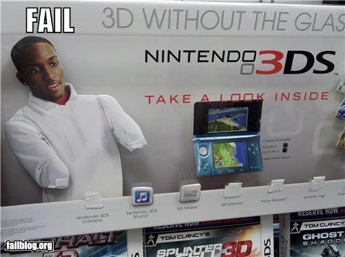 3d,display,failboat,g rated,irony,oops,products,video games