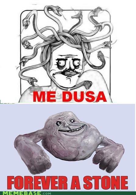 forever alone,me gusta,medusa,stone