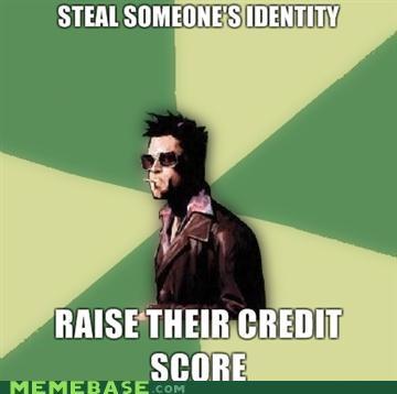 credit score,Disruptive Durden,fight club,identity,tyler durden
