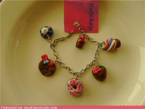 accessories,bracelet,cookies,donut,ice cream cone,Jewelry,sweets