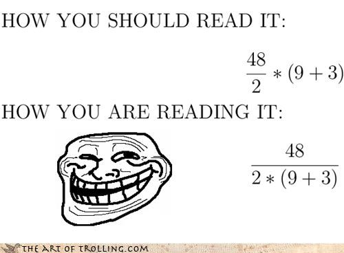 Troll Math: 2 or 288?