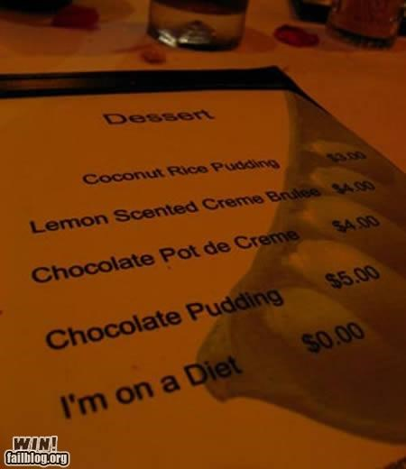 awesome at work,clever,dessert,food,menu