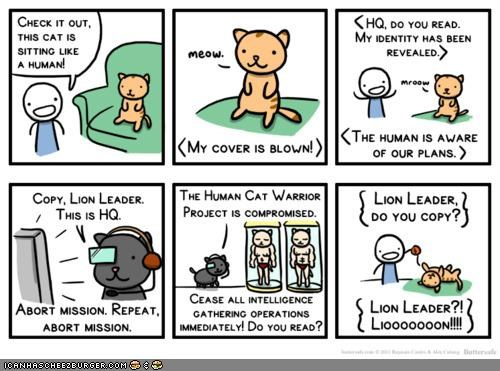 Kitteh Komic of teh Day: Lion Leader