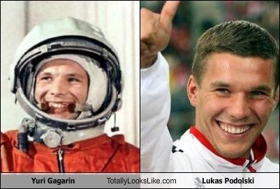 Yuri Gagarin Totally Looks Like Lukas Podolski