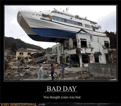 bad day,boat,flood,shipwrecked